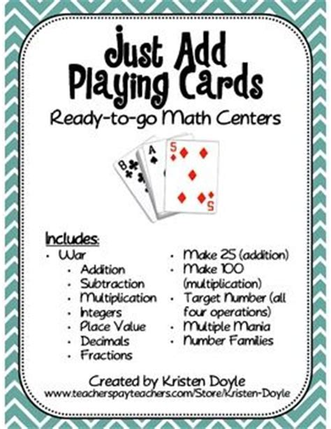 How To Add A Game Gift Card Online - 17 best images about playing card math games on pinterest math games guided math