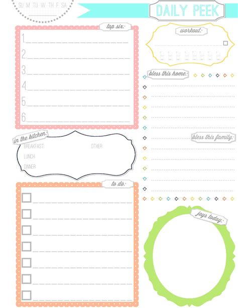 printable household planner pages free printable planner pages activity shelter