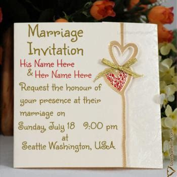 Married Invite Card by Write Name On Wedding Invitation Cards 2