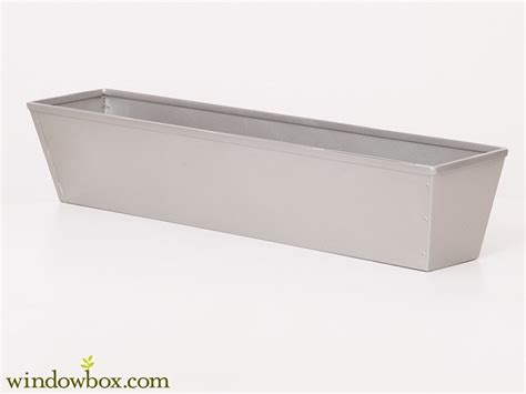 galvanized window boxes galvanized tapered window box powder coated silver tone