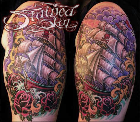 tattoo convention st cloud anthonydubois sailing the seas color waves roses ship pirate