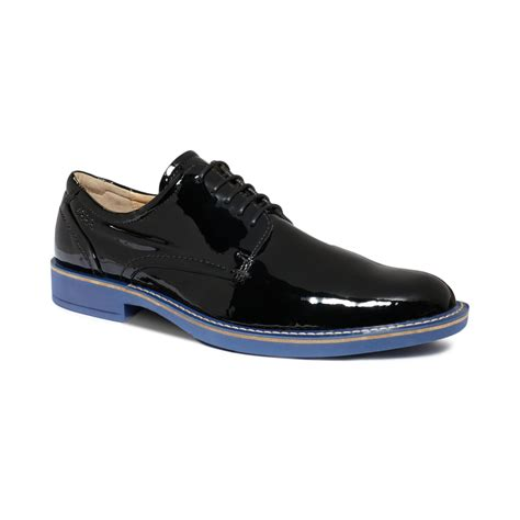 plain black shoes for ecco biarritz plain toe shoes in black for lyst