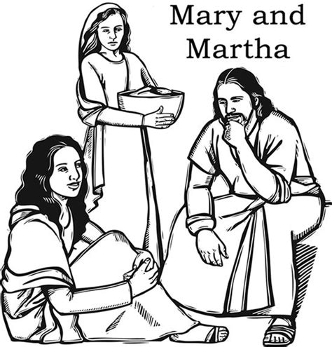 25 Best Ideas About Mary And Martha Bible On Pinterest And Martha Coloring Page