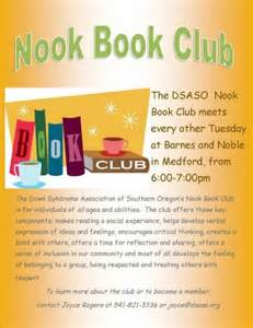 Association of southern oregon dsaso s quot nook book quot club a success
