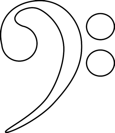 treble clef template clipart best