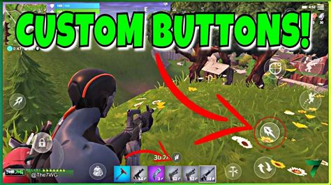 custom buttons  fortnite mobile  button added