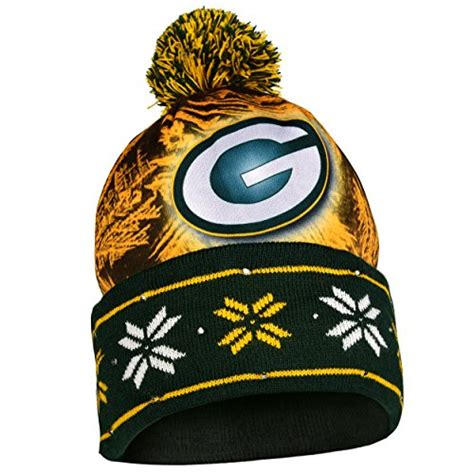 green bay packers light up hat nfl green bay packers light knit up hat immitate com