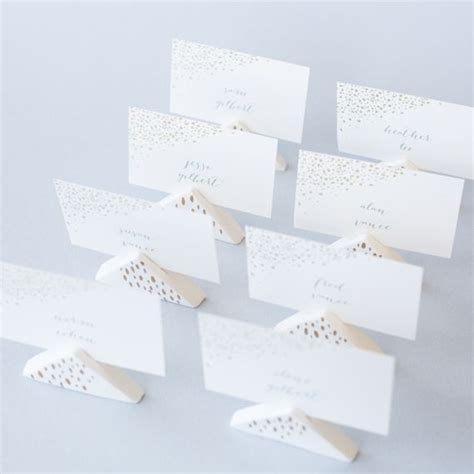 diy place card holders diy wedding air dry clay place card holders 2349939
