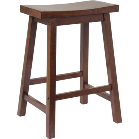 24 inch saddle bar stool antique walnut in counter