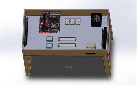 Pc Desk Mod Computer Inside Table Build Logs Linus Computer Inside Desk