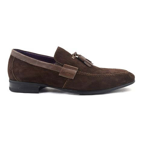 buy loafers buy brown suede tassel loafer mens shoes gucinari