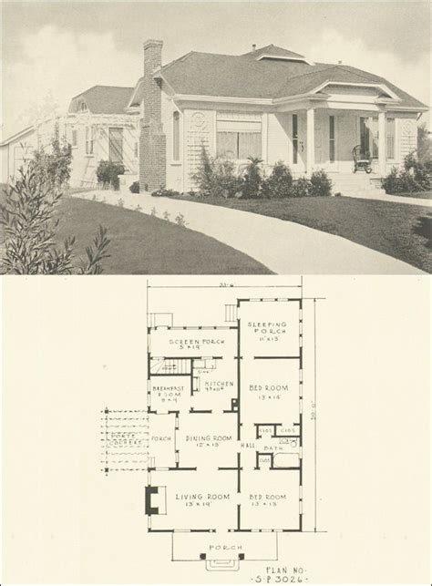 house plans with sleeping porch 1924 southern pine assn plan 3026 love the sleeping porch house plans
