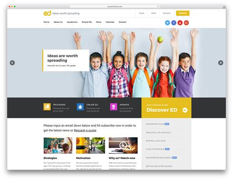 education themes free wordpress 32 awesome responsive wordpress education themes 2018