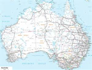 large detailed road map of australia with all cities