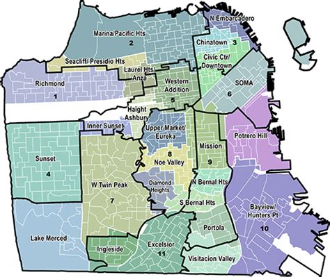 san francisco map by district municipal elections in san francisco california 2015