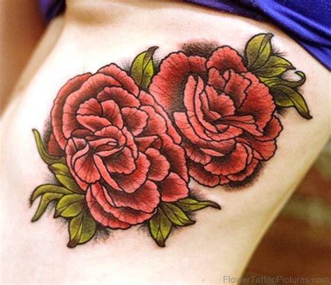 46 attractive carnation flower tattoos