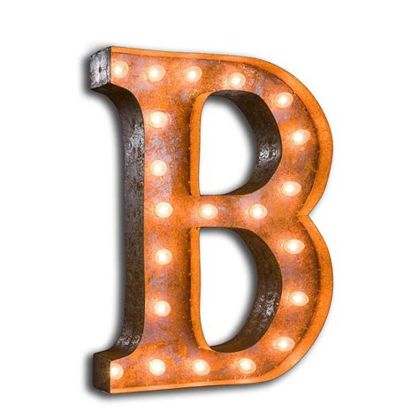 the b vintage letter lights from live like the boy uk