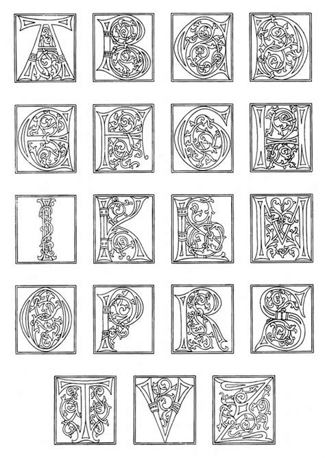 printable medieval letters free coloring pages of medieval alphabet