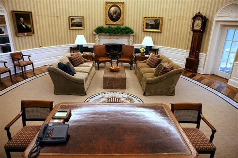 what does the oval office look like today white house oval office is redecorated the new york times