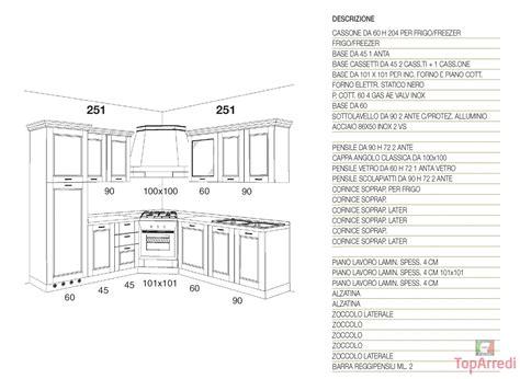 misure di una cucina cucina classica ad angolo reflex
