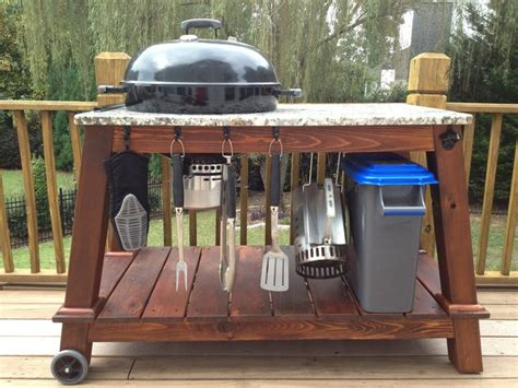 weber grill table plans how to build a weber grill table woodworking projects
