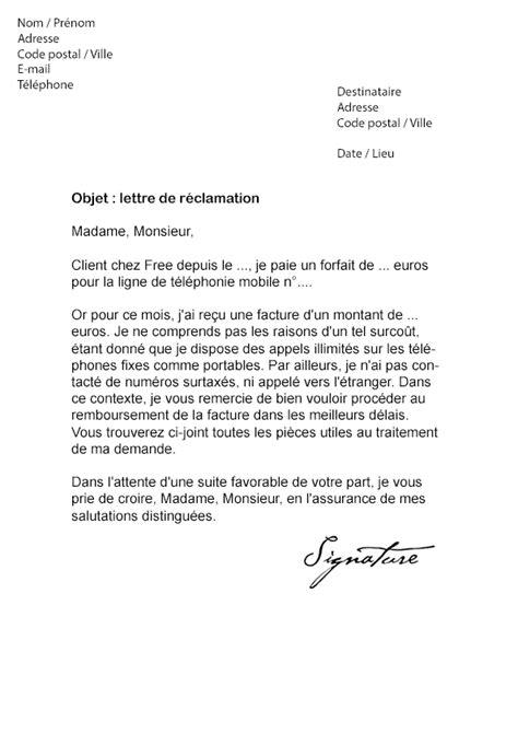 Modele De Lettre A Free Lettre De R 233 Clamation Free Mod 232 Le De Lettre