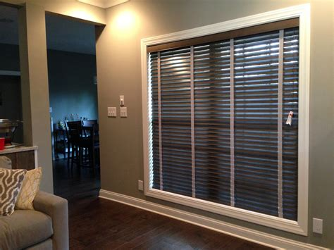 tape and drape lowes wood blinds with cloth tape in clarksville