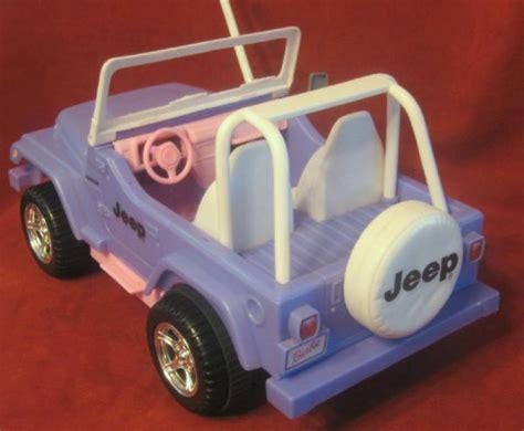 blue barbie jeep barbie bratz doll remote jeep wrangler purple pink 1999 ebay