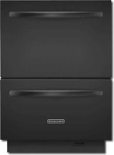kitchenaid double drawer dishwasher price kitchenaid architect ii 24 quot double drawer dishwasher black