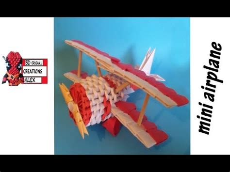 3d Origami Airplane - how to make 3d origami mini airplane tutorial diy 3d