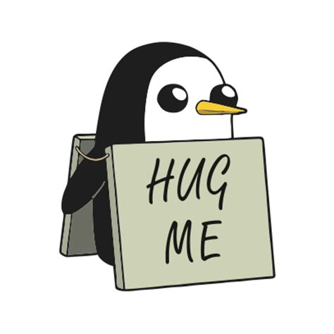 Hug Me Penguin   JuiceBubble T Shirts