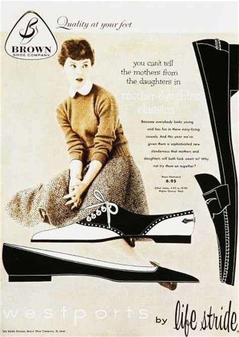 Flat Shoes Vintage Ad F02 Murahmodis 1950s style black and white saddle shoes