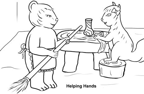 free coloring pages of helping hands