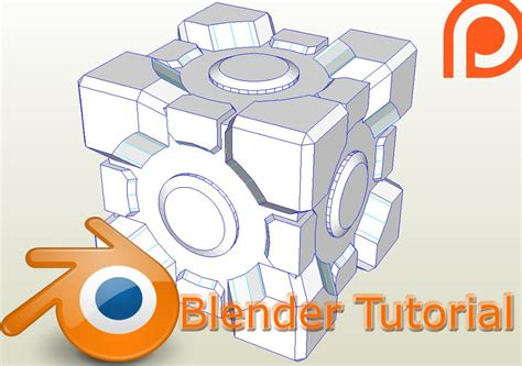 Blender Papercraft - blender tutorial weighted companion cube papercraft easy