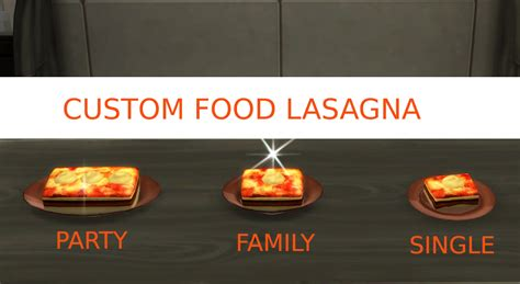 Custom Food mod the sims lasagna custom food updated 10th nov 2017
