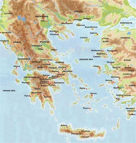 map of archaic greece ancient maps new calendar template site