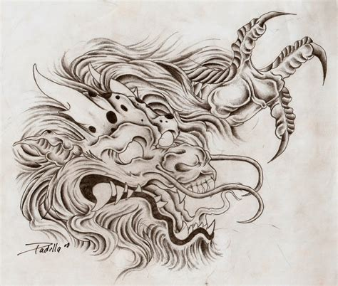 dragon head tattoo designs by eltri on deviantart