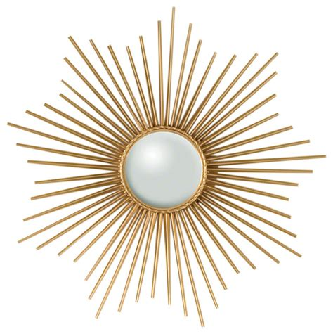mini sunburst mirror gold wall mirrors by global