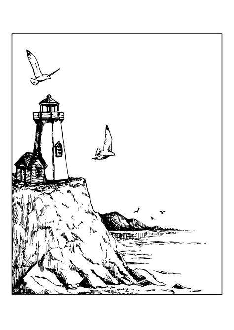 coloring pages lighthouse free printable lighthouse coloring pages for adults coloring home