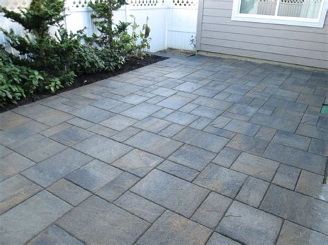Concrete Patio With Pavers Paver Patios Interlocking Concrete Pavers Contemporary Patio Other By Woody S Custom
