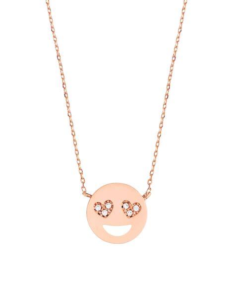 emoji necklace estella bartlett rose gold heart eyes emoji necklace jules b