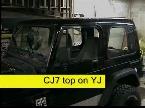 how to put top on jeep wrangler jeep cj7 top on a jeep wrangler yj how to diy