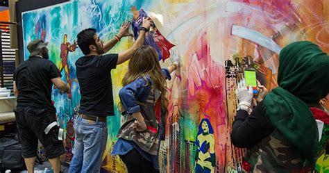 uae artists create spectacular record breaking stencil