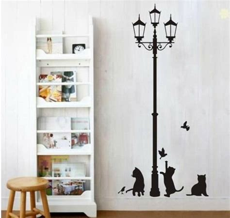 free shipping home decor free shipping popular ancient l cats and birds vinyl