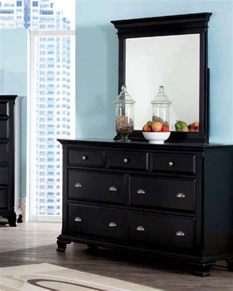 Black Mirror Dresser by Acme Black Dresser W Mirror Canterbury Ac10435dm