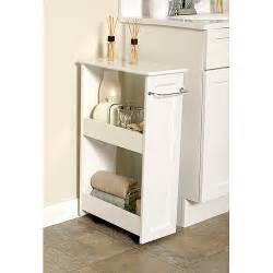 Bathroom Storage Organiser White Wood Slim Organizer Walmart