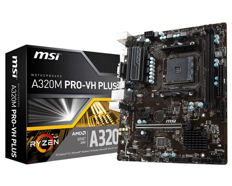 Msi B350 Tomahawk Plus Am4 Amd Promontory B350 Ddr4 Limited overview for a320m pro vh plus motherboard the world