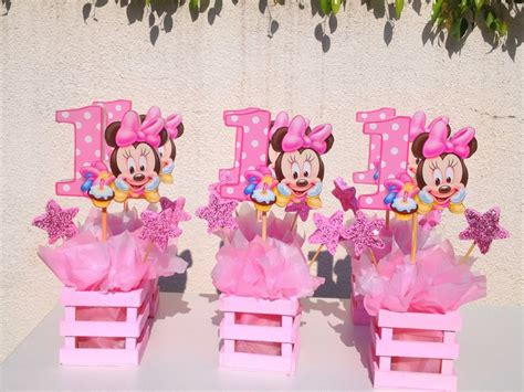 1st Birthday Decorations Minnie Mouse by Baby Minnie Mouse Centerpiece For 1st Birthday
