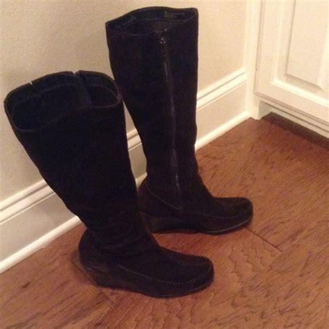 aerosoles aerosoles brown suede wedge boots from atr s