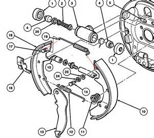 Check Brake System Taurus 2003 Ford Taurus Rear Drum Brakes Diagram